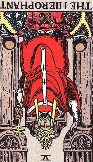 the hierophant-reversed position