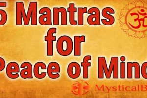 5 Mantras for Peace of Mind